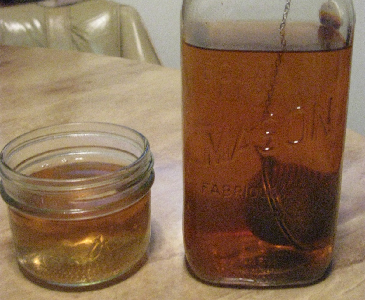 mason jars as a teacup and teapot