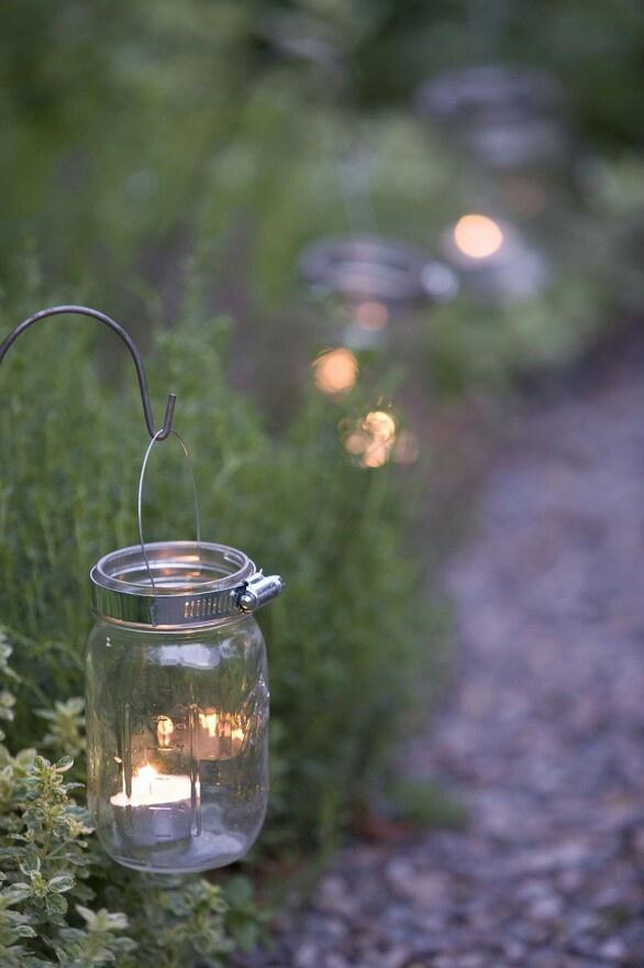 mason jar garden lights